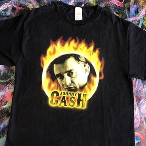 VINTAGE JOHNNY CASH FLAMES TEE